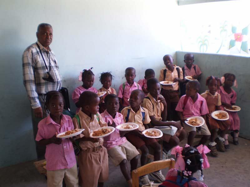 Rev. Lemaire Alerte at Institution Mahanaim High School in Grande Saline, Haiti
