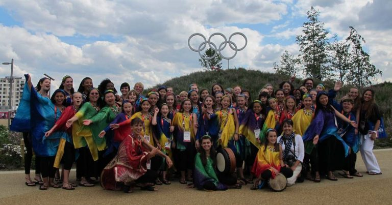 VOENA showing off their Olympic spirit in London.