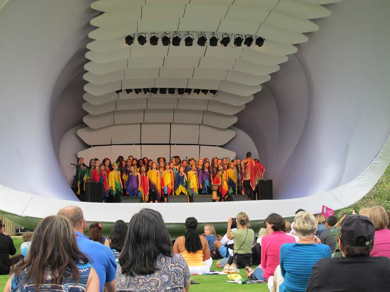 VOENA performing at Olympic Park for the London 2012 Olympics.