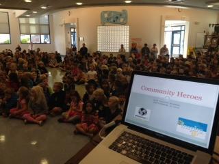 Community Heroes presentation at Sun Valley Elementary School.