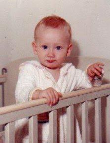 Baby photo of Kim Shand.