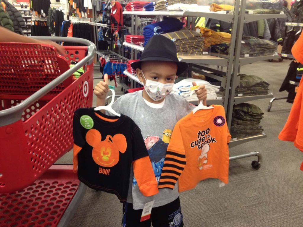 Nico Castro shopping for clothes