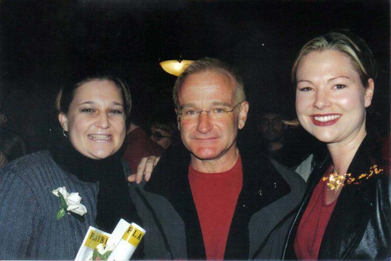 Julia Stuart, Robin Williams and Michelle Kennedy