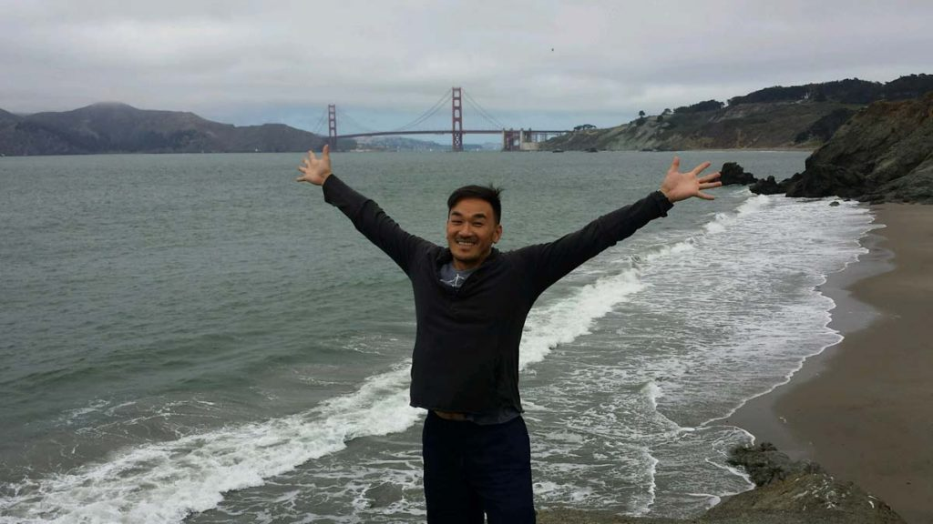 Toan Lam and the Golden Gate Bridge