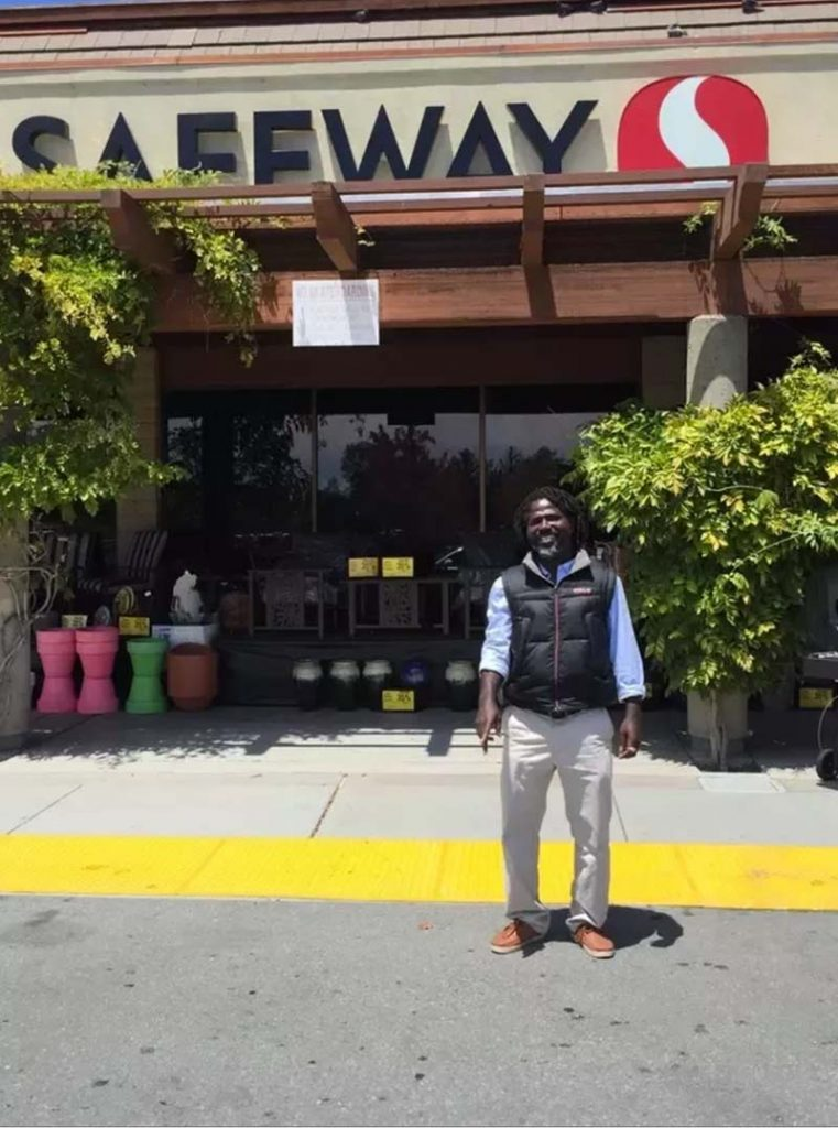 Tarec is a former homeless person who was able to find work at Safeway