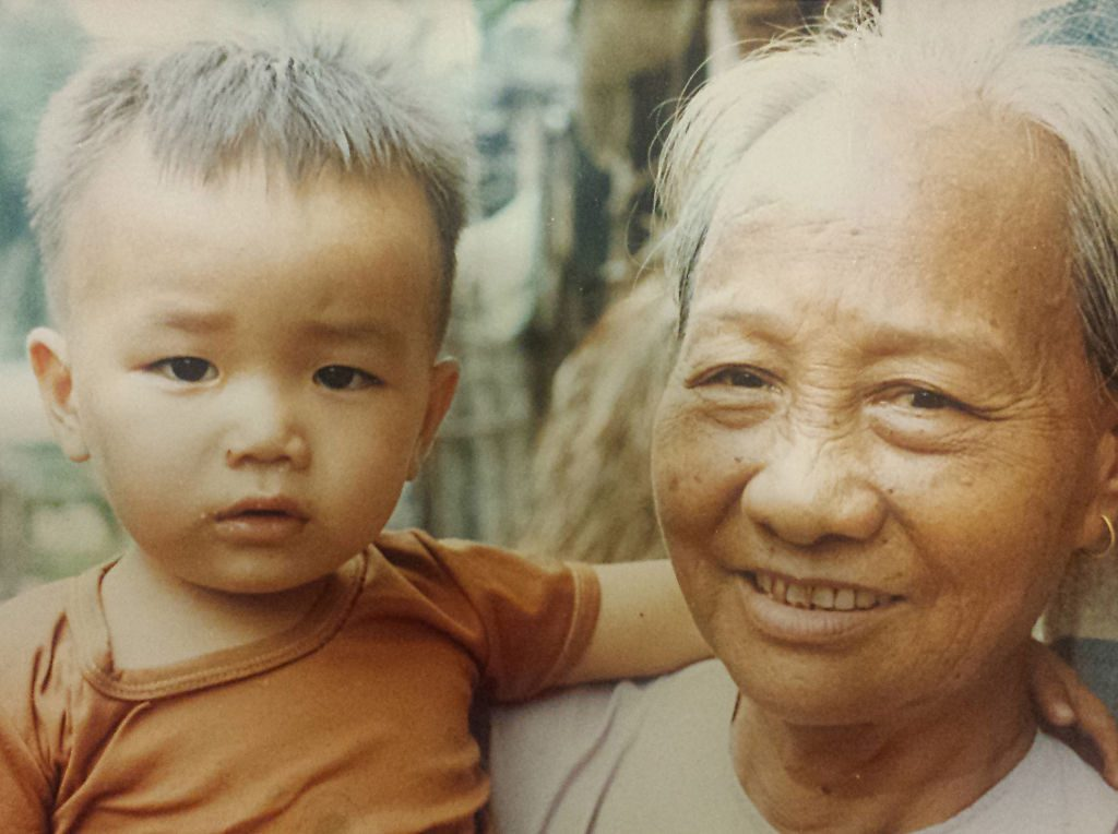 Toan Lam and his grandmother