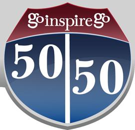 Go Inspire Go 50/50 logo