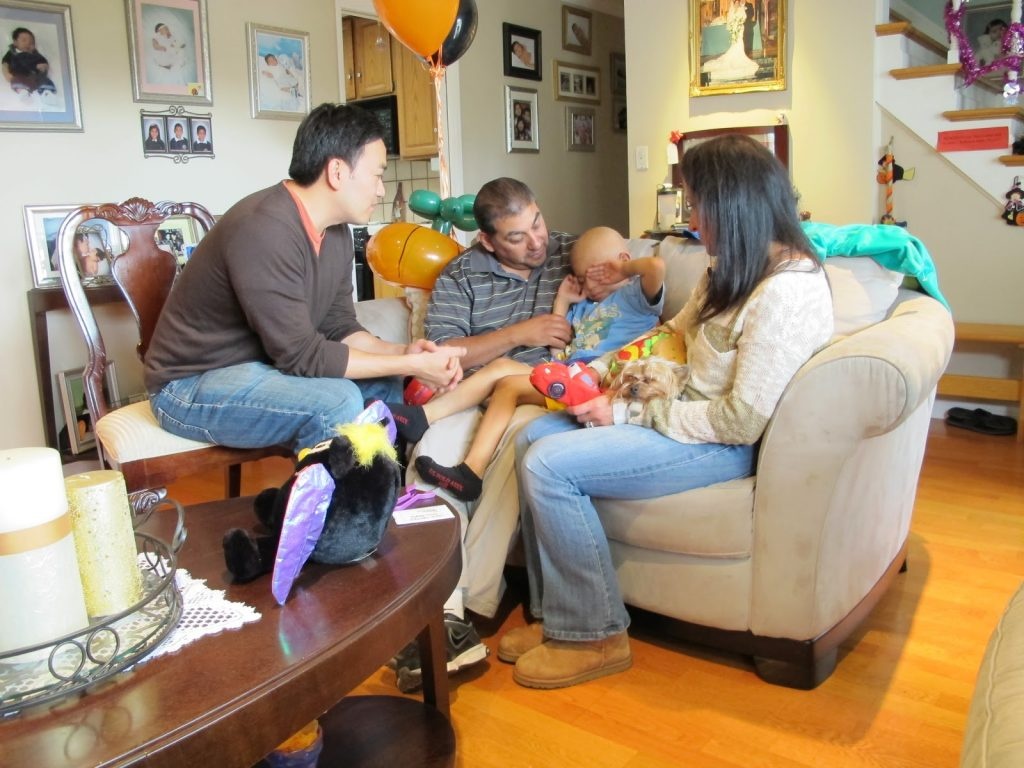 Nico and his family with Toan
