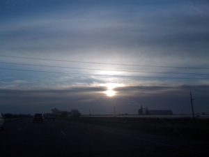 Sunrise on I-80