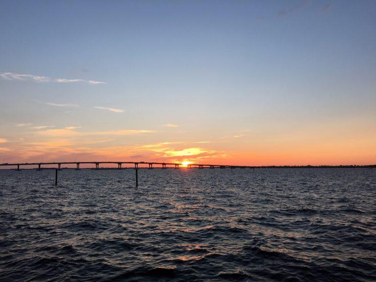 Sunset at the Caloosahatchee River in Florida