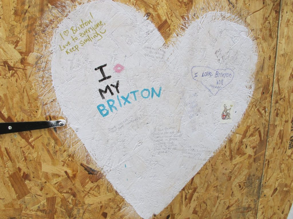 """I Love My Brixton"" written on a heart."