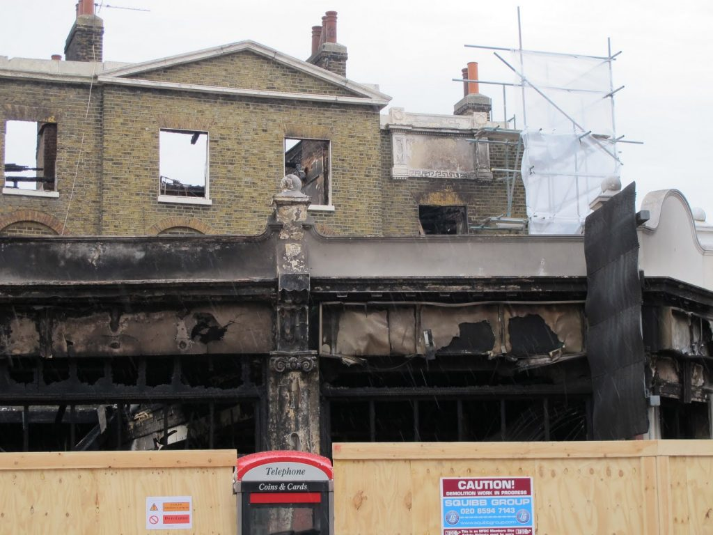 Building damage from the 2011 London riots.