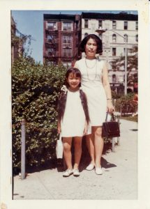 Villy Wang and her mother Jow Way.