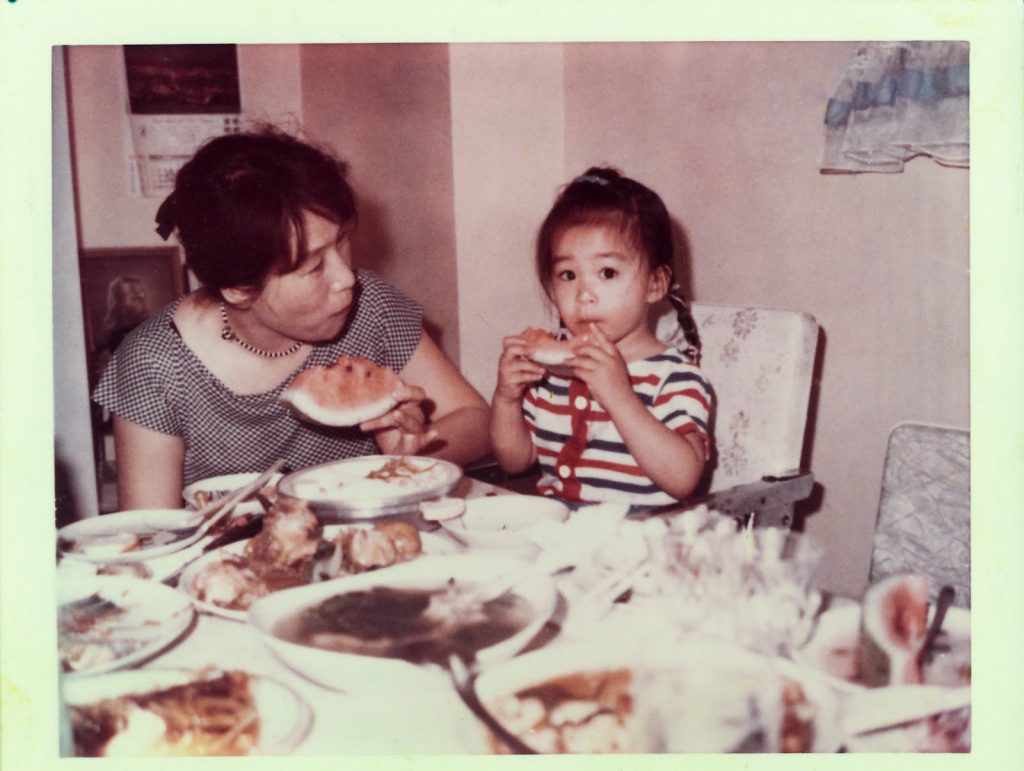 Villy Wang as a young girl with her mother Jow Way.