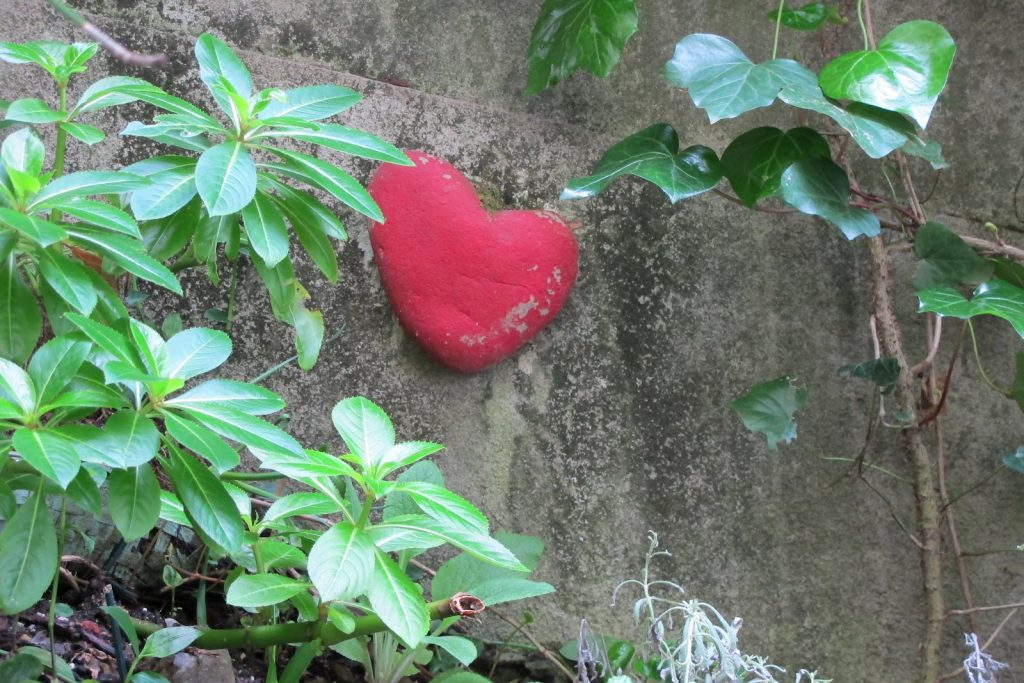 Heart on a stone wall