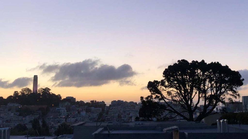 San Francisco sunrise near Coit Tower