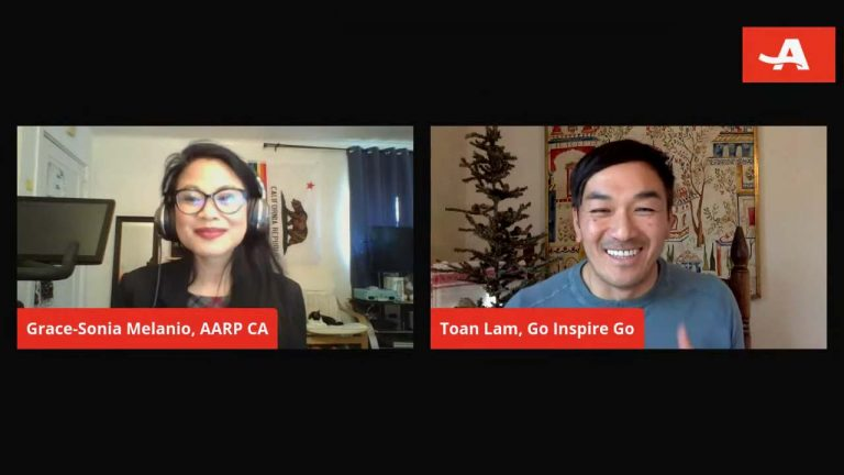 AARP California interview with Grace-Sonia E. Melanio and Toan Lam